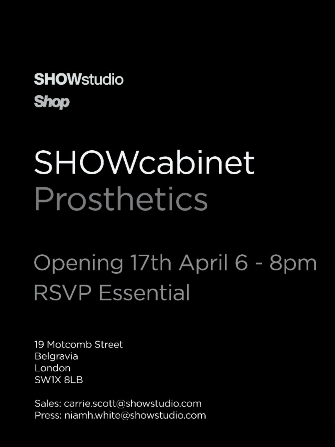 ShowStudio / Prostethics