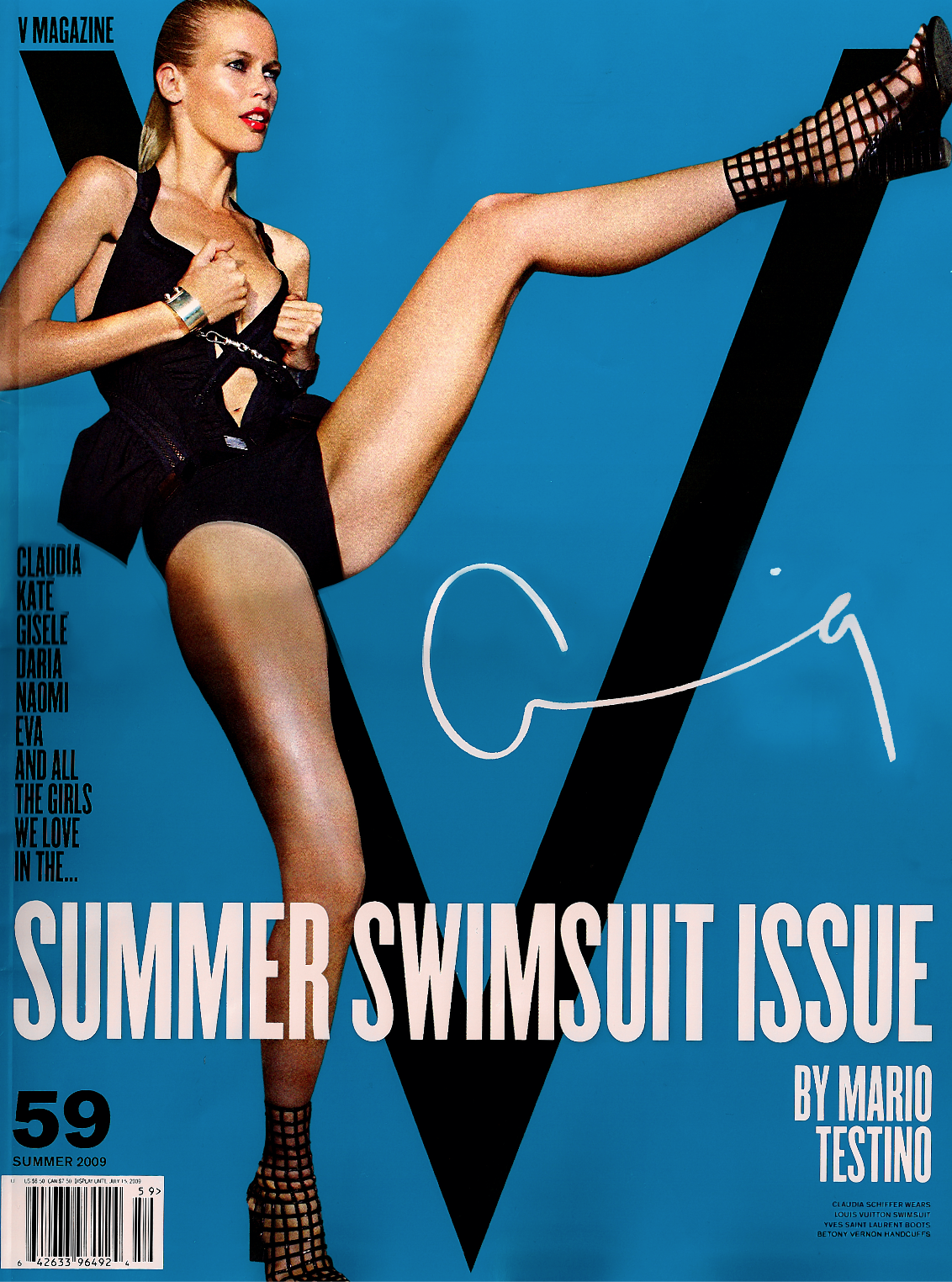 V Magazine / Claudia Schiffer